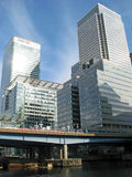 Canary Wharf business district in London Stock Photos