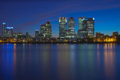 Canary Wharf business district Stock Image