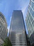Canary Wharf byggnader Arkivfoto