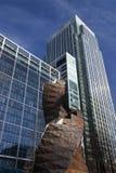Canary Wharf byggnader i London Royaltyfri Foto