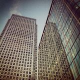 Canary Wharf - Cabot Square. Shot of 1 Cabot Sq at Canary Wharf, London Stock Photos