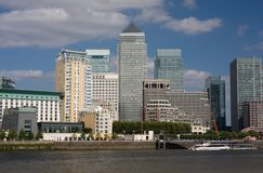 Canary Wharf city scape Stock Photo
