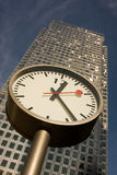 Canary Wharf Clock Stock Images