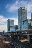 Canary Wharf commercial buildings Stock Photo