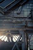 Canary Wharf crane. A closeup photo of a character Canary Wharf crane Royalty Free Stock Image