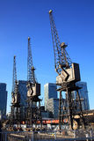 Canary Wharf cranes Royalty Free Stock Photography