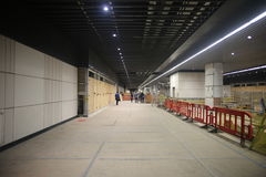 Canary Wharf Crossrail, Londres Photo stock