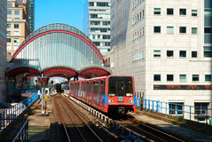 Canary Wharf, DLR station Royalty Free Stock Photo