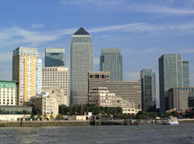 Canary Wharf In Docklands. Is the largest business development in East London, built on the site of the old West India Docks on the Isle Of Dogs Stock Photography
