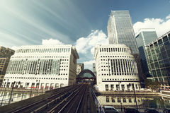 Canary Wharf docklands station in London Stock Photos