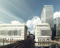 Canary Wharf docklands station in London Royalty Free Stock Image
