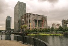 Canary wharf financial district Stock Images