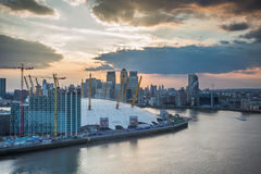 London city o2 arena skyline panorama Royalty Free Stock Photos