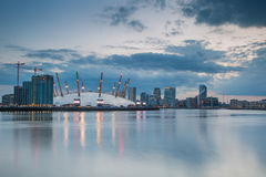 London city o2 arena skyline panorama Royalty Free Stock Image