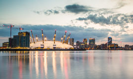 London city o2 arena skyline panorama Royalty Free Stock Images