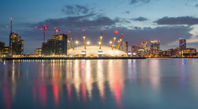 London city o2 arena skyline panorama Royalty Free Stock Photography