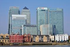Canary wharf financial skyline Royalty Free Stock Photos
