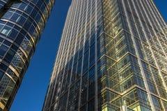 Canary Wharf-Geschäftsgebäude London stockfotografie