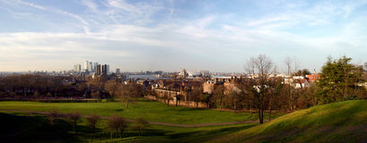Canary Wharf and Greenwich Stock Photo