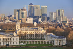 Canary Wharf from Greenwich Royalty Free Stock Photography