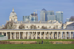 Canary Wharf from Greenwich Stock Photography