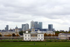 Canary Wharf and Greenwich University Stock Photography