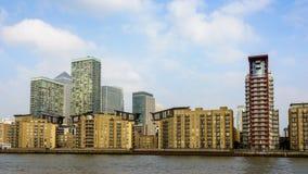 Canary Wharf horisont, London Royaltyfri Fotografi