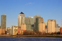 Canary Wharf i London Royaltyfri Foto