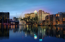 Canary Wharf international business aria Royalty Free Stock Image