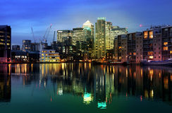 Canary Wharf international business aria Royalty Free Stock Photography