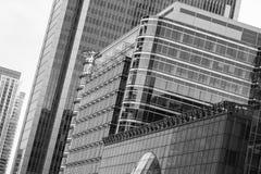 Canary Wharf kontorsbyggnader, London Fotografering för Bildbyråer