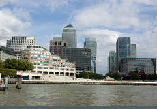 Canary Wharf landscape Stock Photos