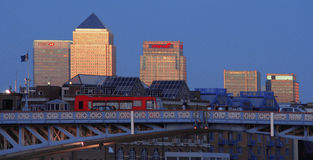 Canary Wharf, Londen Stock Foto