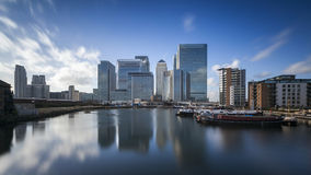Canary Wharf London Arkivbild