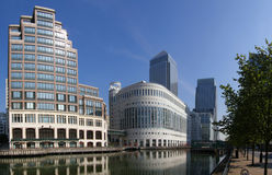 Canary Wharf London. Building in London's Canary Wharf Royalty Free Stock Photography