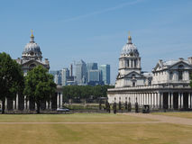 Canary Wharf in London. The Canary Wharf business centre in London, UK seen from Greenwich Stock Images