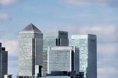 Canary Wharf: London Business District Royalty Free Stock Photos