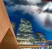 Canary Wharf, London business district Royalty Free Stock Photo