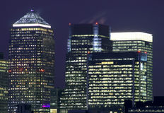 Canary Wharf in London. England Stock Photography