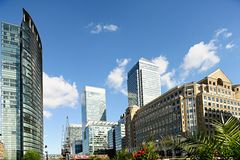 Canary Wharf London England UK Royalty Free Stock Image