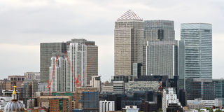 Canary Wharf, London, England, UK, Europe Royalty Free Stock Photography
