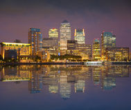 Canary Wharf, London. Night view Royalty Free Stock Photography