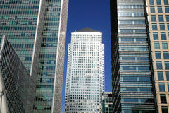 Canary Wharf in London's Docklands Royalty Free Stock Images