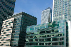 Canary Wharf In London's Docklands Royalty Free Stock Photos