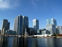 Canary Wharf in London's Docklands Stock Photos