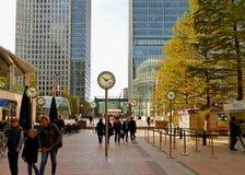 Canary Wharf - London traditionell finansiell mitt Arkivbild