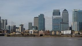Canary Wharf London stock footage