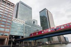 London skyline Cnary Wharf Stock Photography
