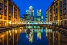 Canary Wharf Londra Regno Unito Immagine Stock
