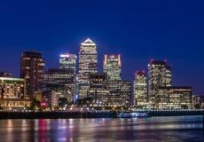 Canary Wharf Londra Regno Unito Fotografia Stock